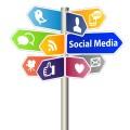 social media symbols on signs